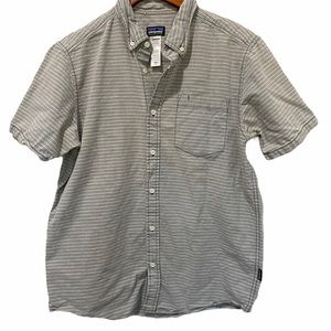 Patagonia Striped Button Front Short sleeve Medium